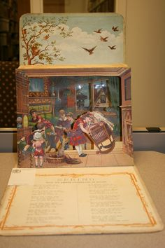 A late 19th century popup book with moveable parts and a poem about the joys of spring.  http://www.lib.muohio.edu/multifacet/record/mu3ugb2611729