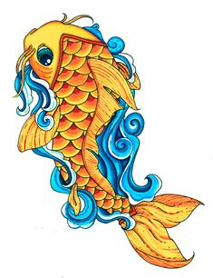 koi fish drawings | Koi Fish Color by Pick-Your-Poison on deviantART