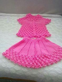 Crochet Toddler Dress Crochet Bebe Crochet For Kids Knit Crochet Layette Kids Girls Baby Kids Baby Dress Baby Knitting Crochet Toddler Dress, Crochet Doll Dress, Baby Girl Crochet, Crochet Baby Clothes, Crochet For Kids, Knit Crochet, Crochet Hats, Baby Dress Patterns, Baby Knitting Patterns