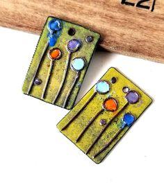 Yellow Enamel Copper Charms