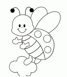 Ladybug Coloring sheets for preschoolers - Enjoy Coloring