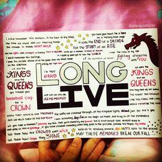 Long Live by Taylor Swift lyrics, hand drawn by http://allaroundtaylor.tumblr.com/.