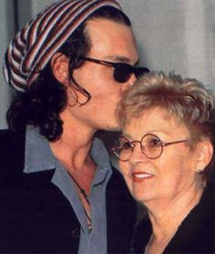 Johnny Depp & Mom ~