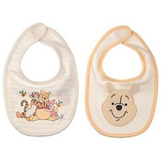 Disney Winnie the Pooh Bib Set for Baby | Disney StoreWinnie the Pooh Bib Set for Baby - For rumbly tumbies, this set includes two different bibs. One features a soft fuzzy Winnie the Pooh appliqu� with embroidered details and 3-D ears, and the other pictures cuddly pals Tigger, Pooh, and Piglet.