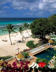 Coconut Court Beach Hotel with pool and beach at the south coast.  BARBADOS                   (©Rainer Jahns)