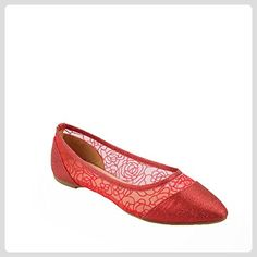 Ideal Shoes, Damen Ballerinas  Rot rot 37 - Ballerinas für frauen (*Partner-Link)