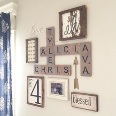 A lot of methods of work DIY wood household scrabble tile wall art layout may be fantastic alternative to decorate the home. For that reason, it is appropriate to use . Read Good DIY Wood Family Scrabble Tile Wall Art Design For Home Decoration Scrabble Tile Wall Art, Scrabble Letters, Family Scrabble Art, Scrabble Tile Crafts, Kids Letters, Paper Letters, Diy Casa, Creation Deco, Home Projects