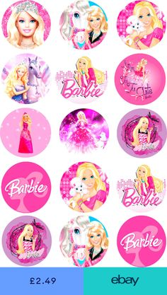 Barbie Cake Toppers Pre Cut Rice Paper or Icing 15 x 2 Inch Cupcakes Bolo Barbie, Barbie Cake, Barbie Toys, Barbie Party Decorations, Barbie Theme Party, Barbie Birthday Invitations, Barbie Birthday Cake, Fun Printables For Kids, Barbie Cupcakes