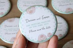 ROSE FLORAL design - Save the Date Magnets
