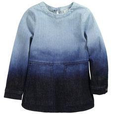 Stella McCartney Kids - Tie & Dye blue denim tencel dress - 52094