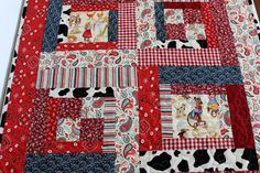 Country Girl Baby Quilt Homemade by LittlebCottonShoppe on Etsy