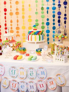 оформление стола детского дня рождения - Поиск в Google Rainbow Birthday, Girl Birthday, Birthday Parties, Happy Birthday, Ideas Decoracion Cumpleaños, Best Party Food, Happy B Day, Cool Baby Stuff, Holidays And Events