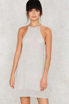 Halter neckline. Total Softy Mini Dress - What's New: Clothes: Casual