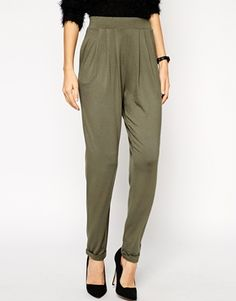 ASOS Basic Peg Trousers In jersey