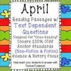"""""""Close Reading"""" passages for students to cite textual evidence. Text Dependent Questions help students get the practice they need.  Product from 24/7 Teacher from TPT."""