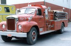 Chittenango FD. 1959 Mack Pumper, retired in 1988, was replaced by 1988 LTI 75' quint. Sold to private owner. #Setcom #Fire  http://setcomcorp.com/csbheadset.html
