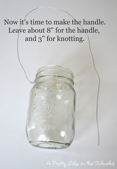 hanging mason jar tutorial