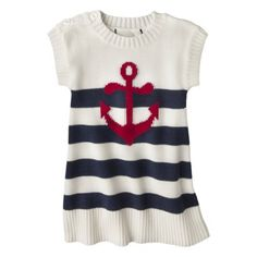 Striped Anchor Sweater Dress - Just One You by Carter's 12m