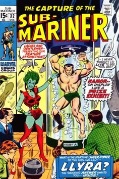 SUB-MARINER #32 first appearance of Lyrra.