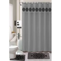 Shower Curtains You'll Love in 2020 | Wayfair Luxury Shower Curtain, Shower Curtain Sets, Fabric Shower Curtains, Vanity Cabinet, Bathroom Fixtures, Bathroom Furniture, Bathroom Accessories, Storage Spaces, Hooks