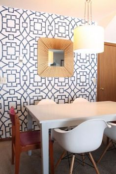 ... Stencil on Pinterest | Stenciled accent walls, The tea and Trellis
