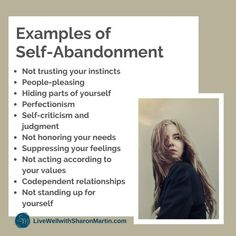 Self-Abandonment: What It Is and How to Stop - Live Well with Sharon Martin