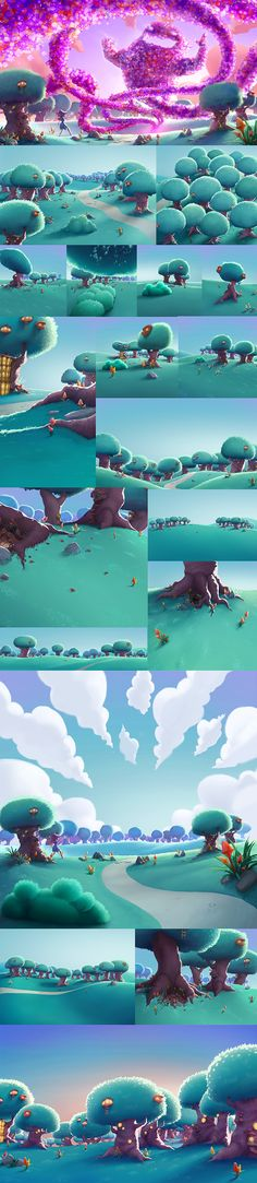 Animation from Mindbender for Bubble Witch Saga 3. Done in collaboration with King. I painted on the outdoors scenary and it was realy cool to work in this project with great artists.