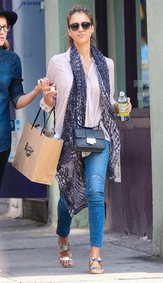 Jessica Alba's Street Style