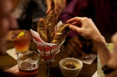 Friday's® Warm Pretzels with Craft Beer-Cheese Dipping Sauce.
