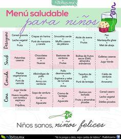 Hábitos Health Coaching | Un rico menú de ejemplo para niños!!