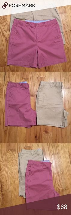 """Sz 10 NWT LL BEAN shorts. 2 pairs. Two pairs of brand new with tags size 10 favorite fit shorts!!! Bought them and never wore them! Top to bottom 16"""". 10"""" rise. L.L. Bean Shorts"""