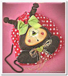 Manualidades para compartir: Como hacer mochila infantil vaquita de San Antonio