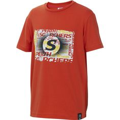Your little one will be showing their team pride in this Perth Scorchers 2015/16 Kids Graphic T-Shirt! Made of a cotton blend for comfort, this tee is ideal for everyday wear for your little cricket fans!
