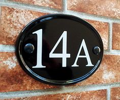 Small Classic Oval Number Sign - 150mm x 115mm