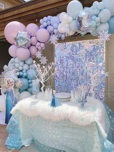 Pastel Balloons, Frozen Balloons, Frozen Birthday Party, 3rd Birthday Parties, Birthday Cupcakes, Birthday Ideas, Birthday Gifts, Frozen Party Decorations, Birthday Party Decorations