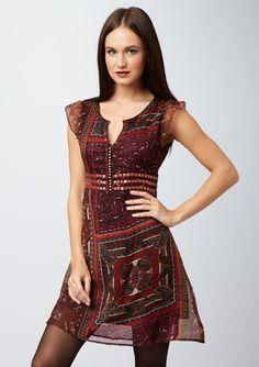 DIMRI  Patchwork Dress