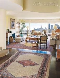 Medallion Rug default - Area Rugs Persian Tribal Rugs In A Contemporary Home