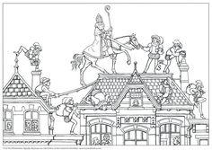 Kleurplaten Sinterklaas.93 Beste Afbeeldingen Van Sint Kleurplaten Printable Coloring