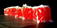 COMPRESSED WATERMELON LIME ZEST, MINT, FETA SNOW Food Art, Feta, Watermelon, Lime, Snow, Cheese, Limes, Eyes, Let It Snow