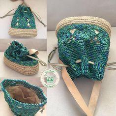 Preppy hollow out and weaving design women s satchel – Artofit Mochila Crochet, Crochet Tote, Crochet Handbags, Crochet Purses, Crochet Stitches, Knit Crochet, Crochet Patterns, Drawstring Bag Diy, Hemp Yarn