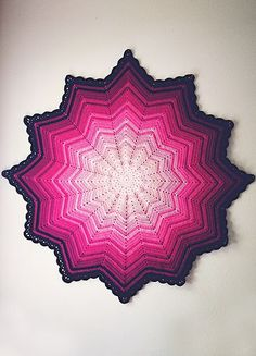 #Crochet+Pink+ripple+baby+blanket+via+goodknits Free Pattern