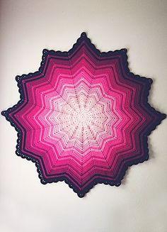 #Crochet+Pink+ripple+baby+blanket+via+goodknits