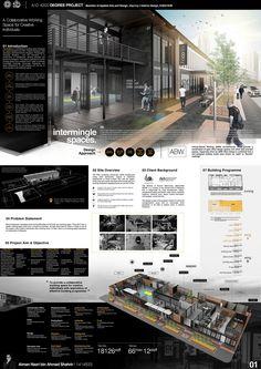 Interior Design Presentation Board - Interior Design Presentation Board on Behance - Portfolio Design Layouts, Portfolio D'architecture, Layout Design, Interior Design Layout, Portfolio Examples, Plan Concept Architecture, Architecture Design, Architecture Panel, Architecture Graphics