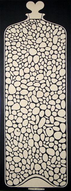 "Alexander Girard, Jar of Pebbles, ""Environmental Enrichment Panel"" for Herman Miller's Action Office 2, 1971."