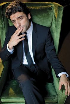 """This picture of Oscar Isaac shows up in my Pinterest feed every single day as something """"picked for me"""". I accept."""