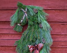 Real Pine Reserve Now Savings Horse Head Wreath Swag by MysticMare