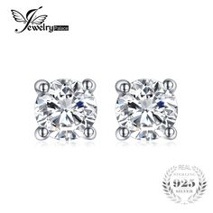 Jewelrypalace Round Pure 925 Sterling Silver Stud Earrings For Women Gift Fashion Jewelry Sterling Silver Earrings Studs, Silver Jewelry, Fine Jewelry, Silver Ring, Enamel Jewelry, Silver Enamel, Jewelry Gifts, Fashion Jewelry, Women Jewelry