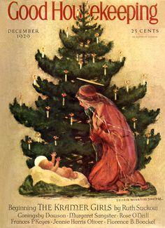 Good Housekeeping magazine cover December 1929  Jessie Willcox Smith