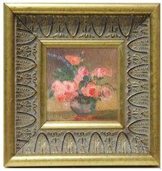 cuadro en miniatura leo pintado a mano para casa de muecas medida aprox