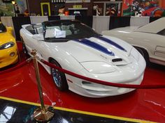 Tony Curtis's Trans Am Convertible.  Of all cars, this was Tony Curtis' favorite car.  He was even buried with a model of the car.  It can be seen at the Volo Auto Museum, Volo, IL.   www.volocars.com